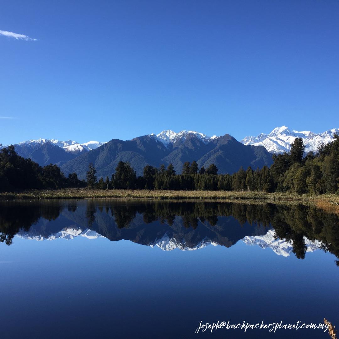 A mirror image of Lake Matheson.
