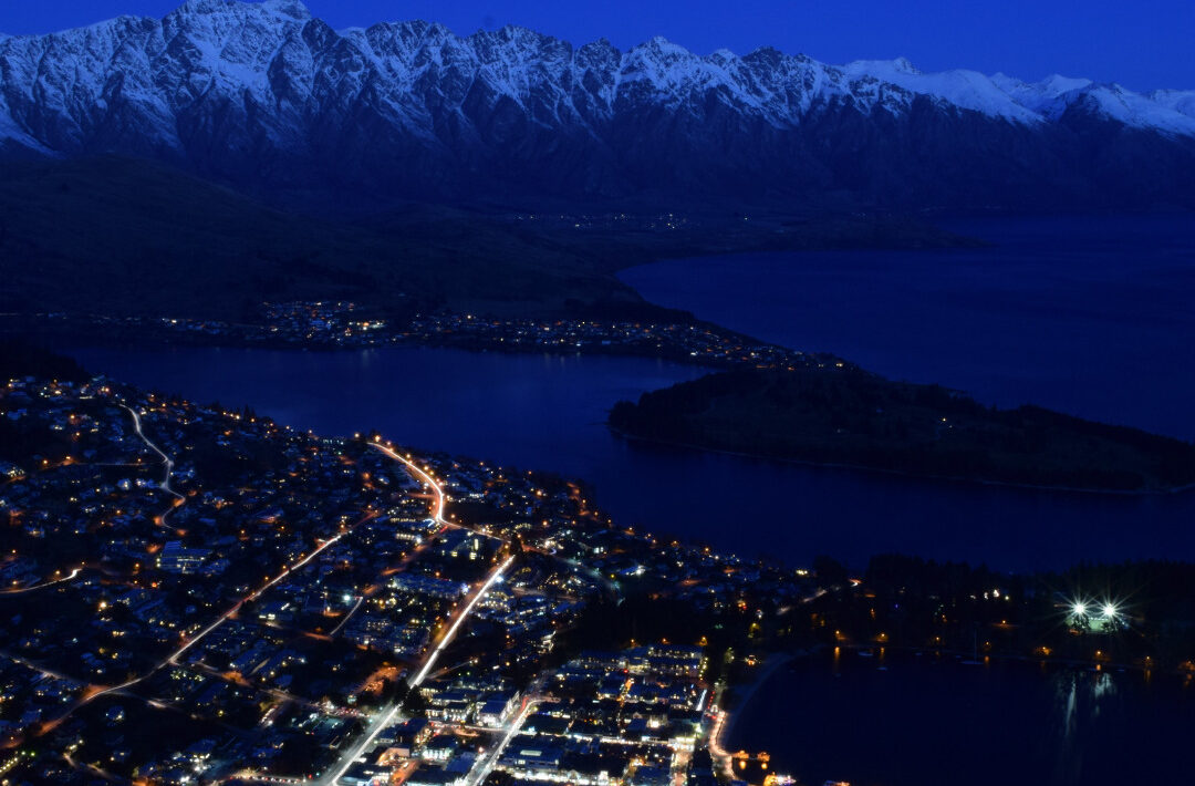 Scenic view from the top of Bob's Peak, Queenstown