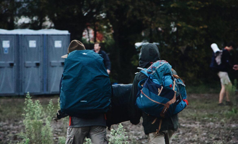 people wearing backpack